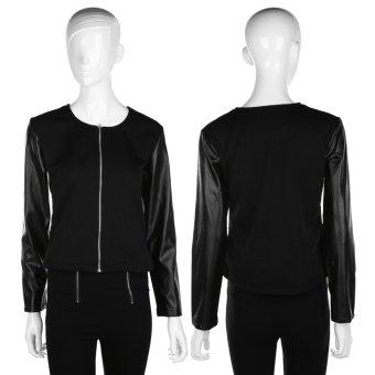Allwin Women Fashion Casual Jackets Long Sleeve Blazer Short Suit Coat Slim Top Black L (Intl)