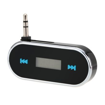 Portable Mini Wireless 3.5mm Car Audio Radio LED Dispaly FM Transmitter Modulator Adapter for iPhone iPad iPod Samsung- Intl