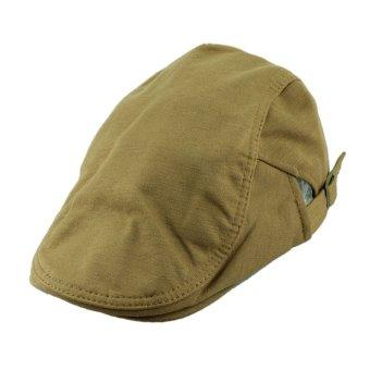 1x High Quality Mens Women Vintage Beret Cap Cabbie Newsboy Flat Peaked Hat Black
