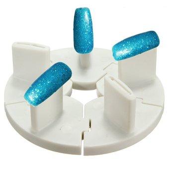 2Pcs Pro Dismountable Nail Art Tips Practice Stands Display Salon Tools Holder Random Color - INTL