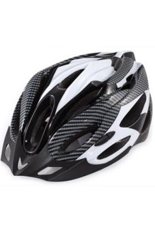 JustCreat Sports Outdoor Bike Cycling Bicycle Adult Helmet (Black/White)