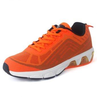 YINGLUNQISHI Men's Sport 3D Mesh Running Shoes Sneakers BT-708 (Orange) (Intl)