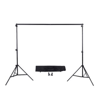 harga 2 * 3m / 6.6 * 9.8ft Adjustable Background Support Stand Photo Backdrop Crossbar Kit with two Clamps Lazada.co.id