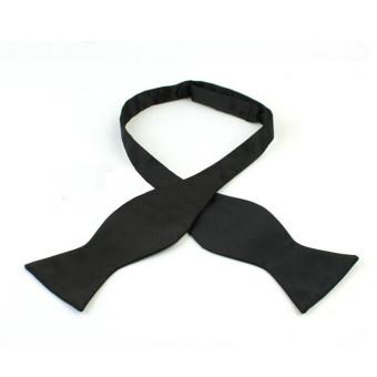 Teamtop Fashion Adjustable Men's Multi Colors Self Bow Tie Necktie Ties Neckwear Cravat Black - INTL