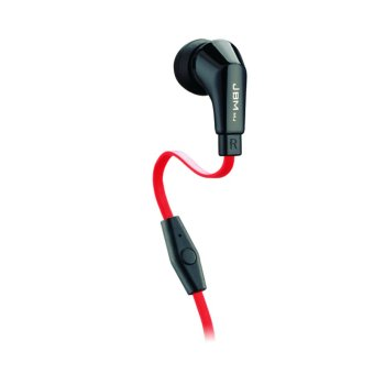 JBMMJ 720 Classic Premium Earbuds Stereo Headphones for iPhones & Android Smartphone Tablets MP3 Players Black-Red (Intl)