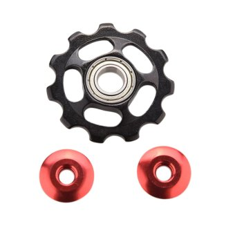 Alumin Jockey Wheel 2pcs Black- Intl