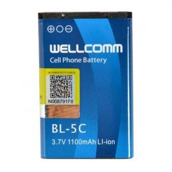 Wellcomm Battery Nokia BL-5C 1100 mAh - Biru terpercaya