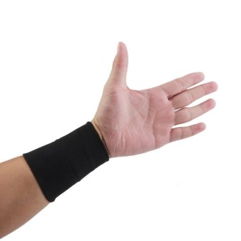 S & F Elastic Wrist Hand Brace Support Carpal Tunnel Tendonitis Relief XL Black