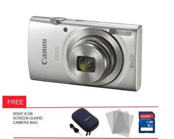 harga Canon Powershot IXUS 175 - 20 MP - Silver + Gratis Screen Guard + Memory + Tas Kamera Lazada.co.id