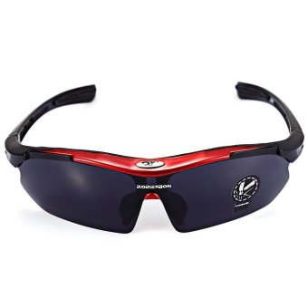 Robesbon Men Cycling Eyewear Outdoor Cycling Sunglasses UV400 Sports Glasses (Red) (Intl)