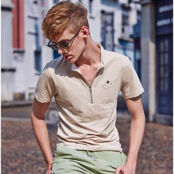2016 Summer New Fashion Men's Round Neck Slim Short Sleeve T-Shirt- Intl