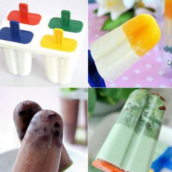 Lucky Ice Cream Mold Maker Cetakan Es Krim 4 Stick - Multicolor