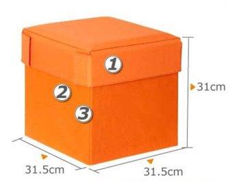 FUNIKA Bangku Kotak Penyimpanan Serbaguna Orange 10060R1OR Harga Murah   image 925551 3 product