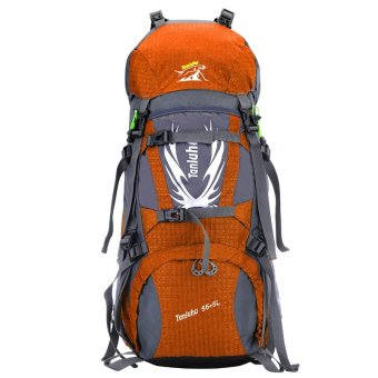 60L Outdoor Sport Hiking Camping Travel Backpack Waterproof Daypack Trekking Rucksack Bag Unisex Orange - Intl
