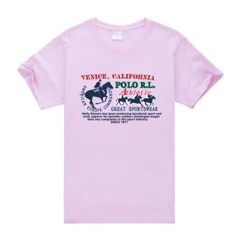 Venice Galifornia Cotton Soft Men Short Sleeve T-Shirt (Pink) - Intl