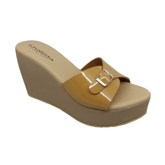 ... Khalista Collections Wedges Women Viro Strap Synthetic Leather Tan
