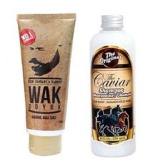 Wak Doyok - Cream Penumbuh Jambang Kumis Bulu - 75ml & Shampoo Caviar Kuda Sudah BPOM - 250 ml