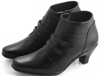 Everflow DK 862 Sepatu Formal Heels Wanita - Leather - Tpr - Simple Dan Elegan - Black