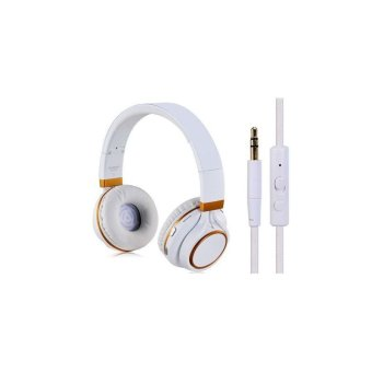 Generic Kanen BH 2050 Foldable Stereo Bluetooth On ear Headset (White+Golden) (Intl)