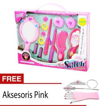 harga OHOME COMBO Mainan Anak Perempuan PA-5S-608 Happy Fashion Salon + FREE Kostum Princess - Pink Lazada.co.id