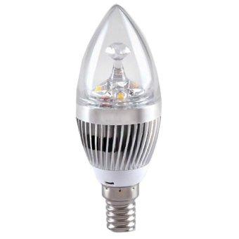 Cyber 1PCS E14 85v-265v Warm-White 3W Crystal LED Spot Light Candle Light Lamp Bulb Sliver