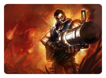 Hired Gun Graves mouse pad lol pad mouse League laptop mousepad Wholesale gaming padmouse gamer of Legends keyboard mouse mats - INTL