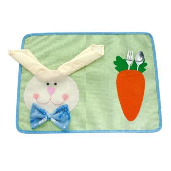 harga Easter Rabbit Bunny Kids Placemat & Napkin Dining Table Mat Pad Decoration Lazada.co.id