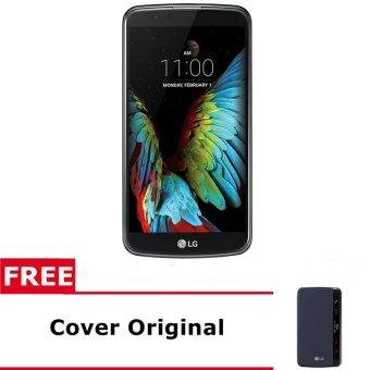 LG K10 - K430DSY - 16GB - Hitam-Gold + Gratis Cover Original