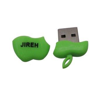 Jireh Card Reader Micro SD Unique Model Apple Hijau