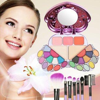 29 Color Makeup Palette Combination And 7 PCS Makeup Brush (Intl)
