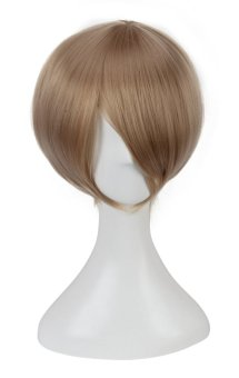Reaty 12 Inches New Heat Resistant Anime Short Wigs for Cosplay Party Costume(Brown) (Intl)