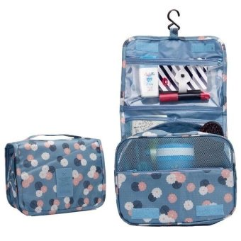 Travel Makeup Bag Case Toiletry Wash Cluch Pouch Zip Organizer(Blue)(Export) - Intl