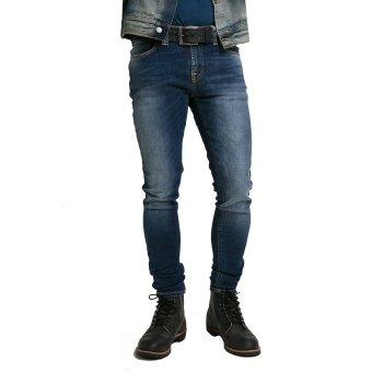 Nudie Jeans Skinny Lin Compact Cloud - Male Biru