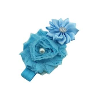 Baby Hair Accessories Girl Princess Headdress Head Flower Headband (Blue) (Intl)