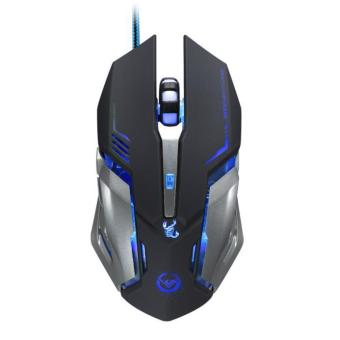 3500 DPI 6 Button Optical Custom Macros USB Wired Gaming Steel Mouse Mice Black (Intl)