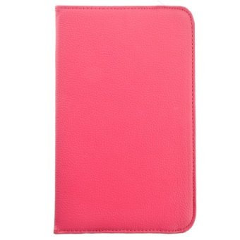 Litchi Texture PU Protective Flip Case for Samsung Galaxy Tab 3 8.0 T310 T311 T315 (Rosy)
