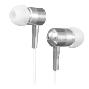 Autoleader 3.5mm Super Bass Stereo Earphone for iPhone Samsung LG MP3 (Silver) (Intl)