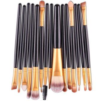 Allwin New Functional Makeup Brush Gold Soft Bristles High Quality 15 Pcs Set - Intl