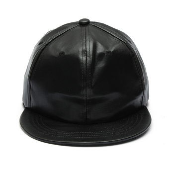 Man Women Artificial Leather Baseball Caps Hiphop Hats Dancing Visors Snapback Outdoor Sun Caps - Intl