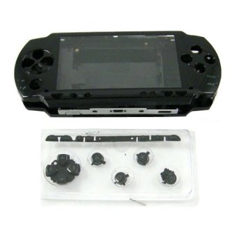 Black Full Housing Repair Mod Case + Buttons Replacement for Sony PSP 1000 Console (Intl)