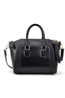 Jetting Buy Leather Tote Bag (Black)