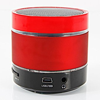 S09 Colorful LED Light Ring Enhanced speaker Super Bass Metal Mini Portable Bluetooth Speaker (Red)