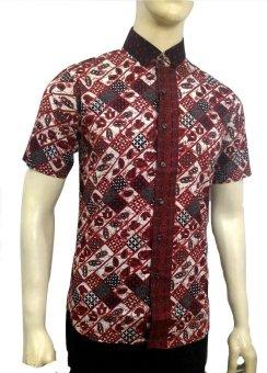 Herman Batik A7820 Baju Kemeja Batik Pria Slimfit Fashion Jeans Muslim Koko