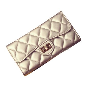 Women's Retro Rhombic Shaped Catch Closure Purse Fashion Day Clutches (Champagne) (Intl)