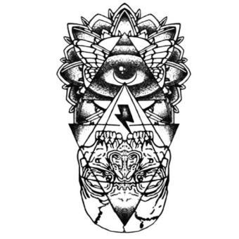 Jetting Buy Waterproof Temporary Tattoo Sticker God Eye Totem Tattoo Body Art Fake Tattoos Black- Intl