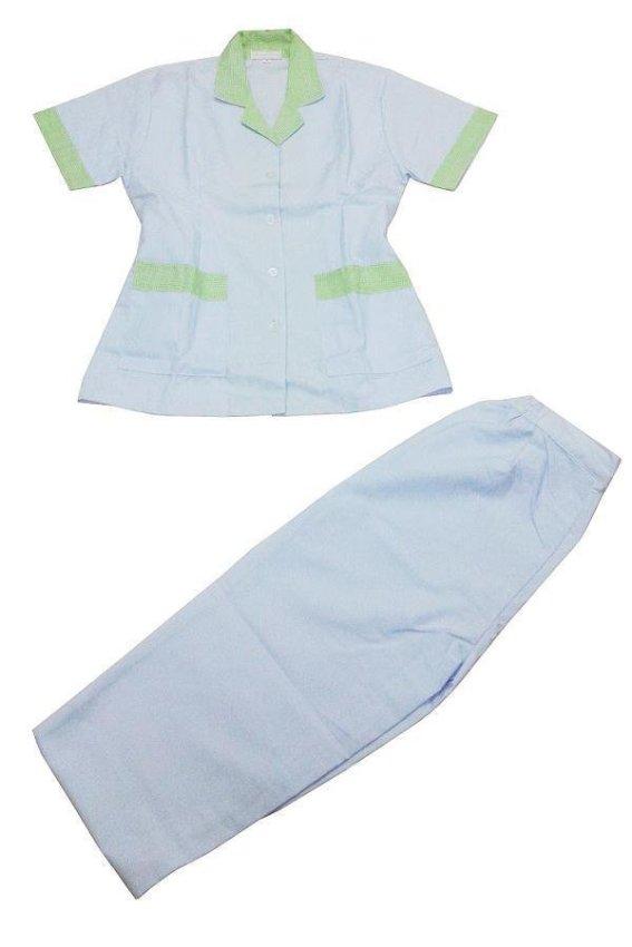 harga Wonderland Kulot Baju Suster Motif E Panjang - Hijau Lazada.co.id