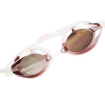 Allwin Hot Chrome Plated Swimming Mariner Waterproof Goggles Anti Fog UV Glasses pink - INTL