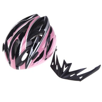 Outdoorfree18 Vents Ultralight Integrally-molded Sports Cycling Helmet with Visor Mountain Bike Bicycle Adult (Intl)