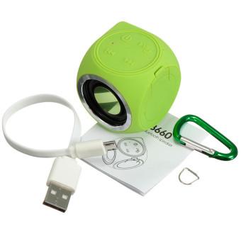 Audew Waterproof Bluetooth Wireless Speaker Handsfree Mini Music Sound Portable Light Green(INTL)