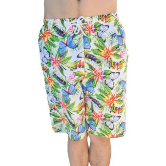 EOZY Summer Beach Men Beach Pants Board Shorts South-east Asia Style Male Casual Colorful Butterfly Pattern Outdoor Sports Trunks Swim Wear Couples Short Pants (Multi-color) (Intl)